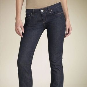 Paige jeans Blue Heights skinny low rise dark wash